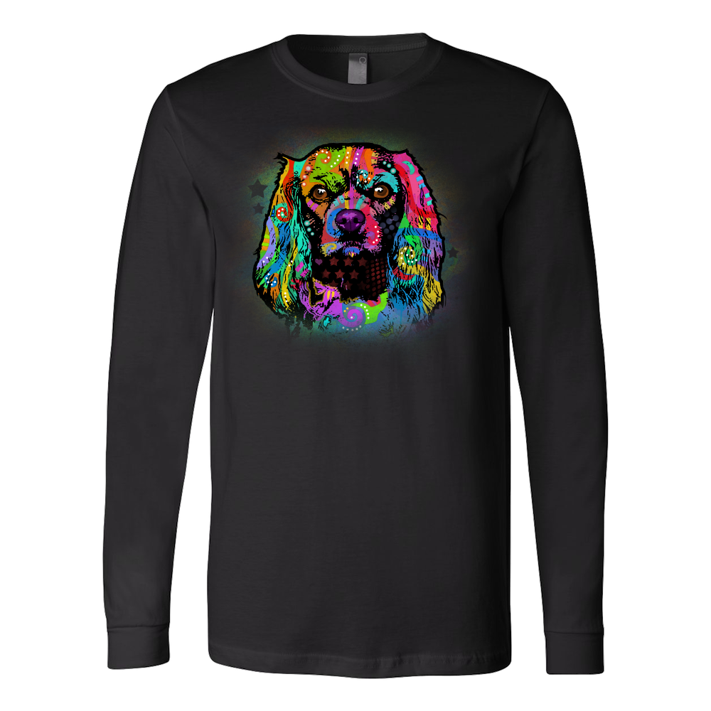 CAVALIER KING CHARLES SPANIEL Long Sleeve Shirt, All Colors and Sizes