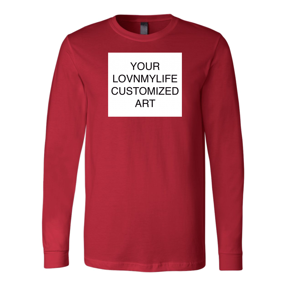 CUSTOM ART LONG SLEEVE TEE - All Sizes & Colors