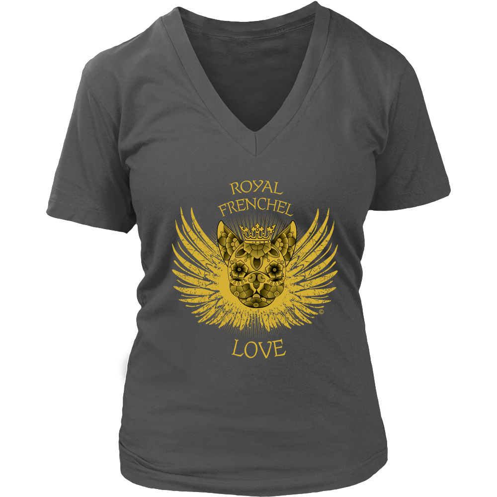 Royal Frenchel Love- Women's V-Neck T-Shirt