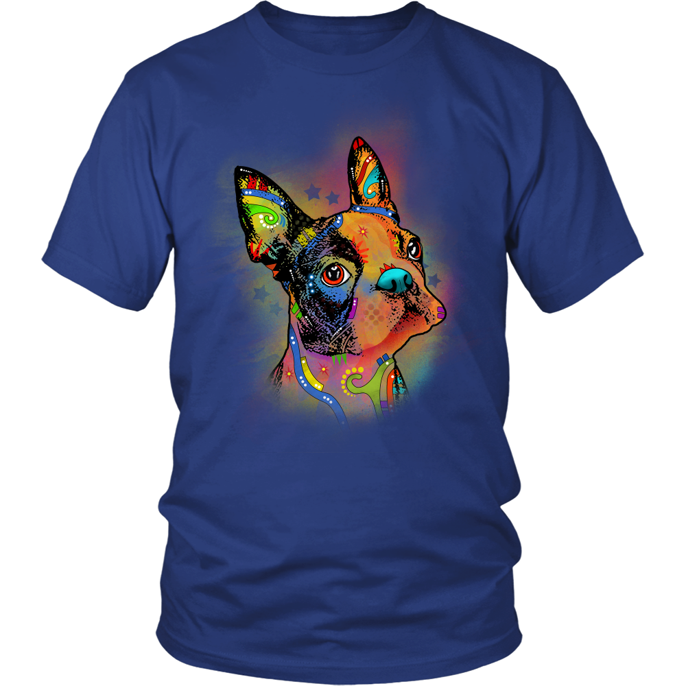 BOSTON TERRIER 5.3 oz Winter T-Shirt, All Colors & Sizes