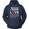 """All You Need Is Love & My Dog"" Red Heart - Unisex Hoodie"