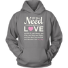 """All You Need Is Love & My Dog"" Pink Heart - Unisex Hoodie"