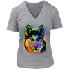 HUSKY V-Neck T-Shirt All Colors & Sizes