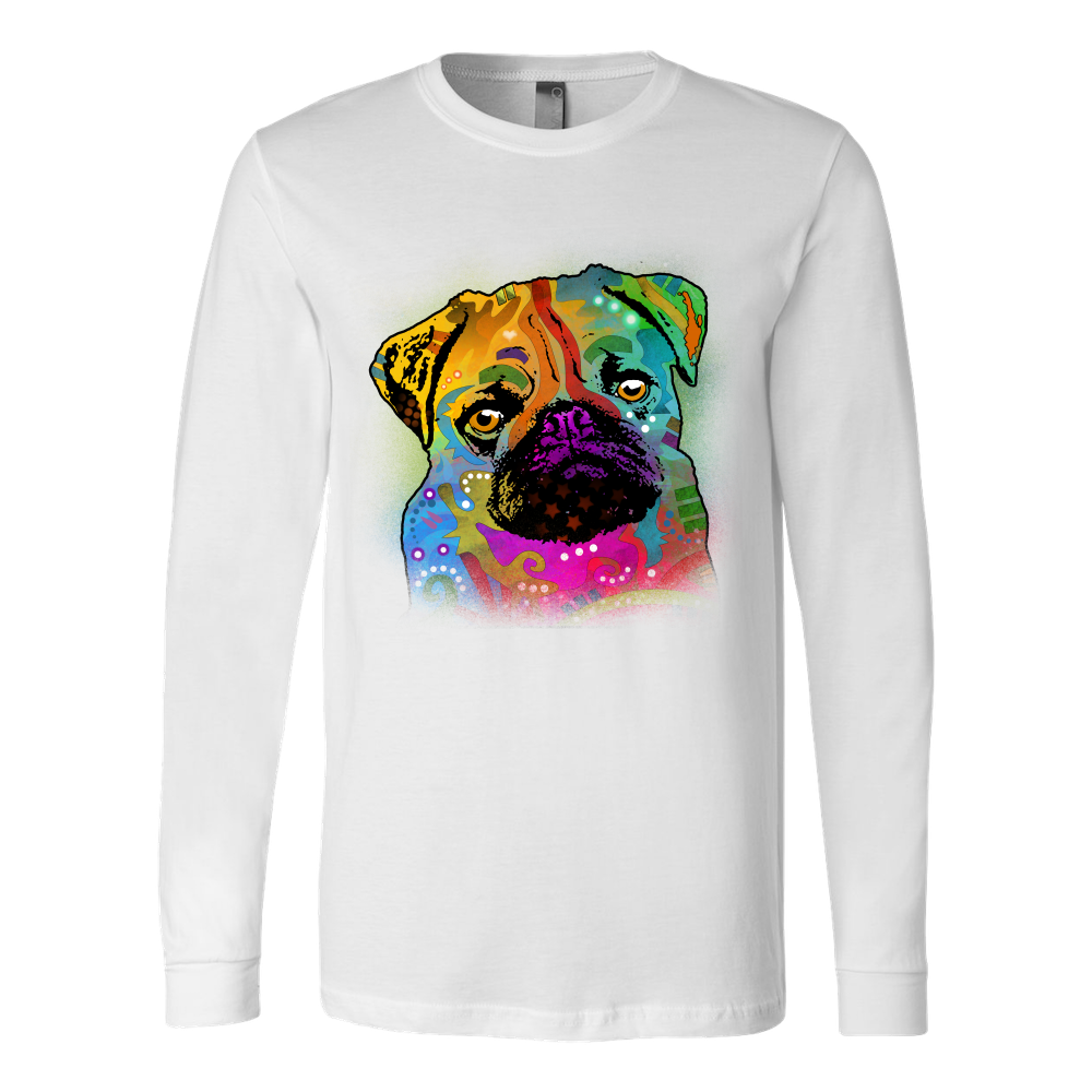 PUG LONG SLEEVE SHIRT, ALL COLORS & SIZES