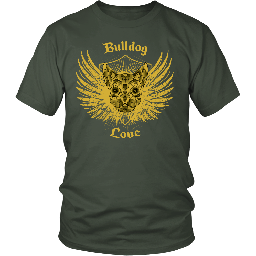 """Bulldog Love"" Unisex T-Shirt"