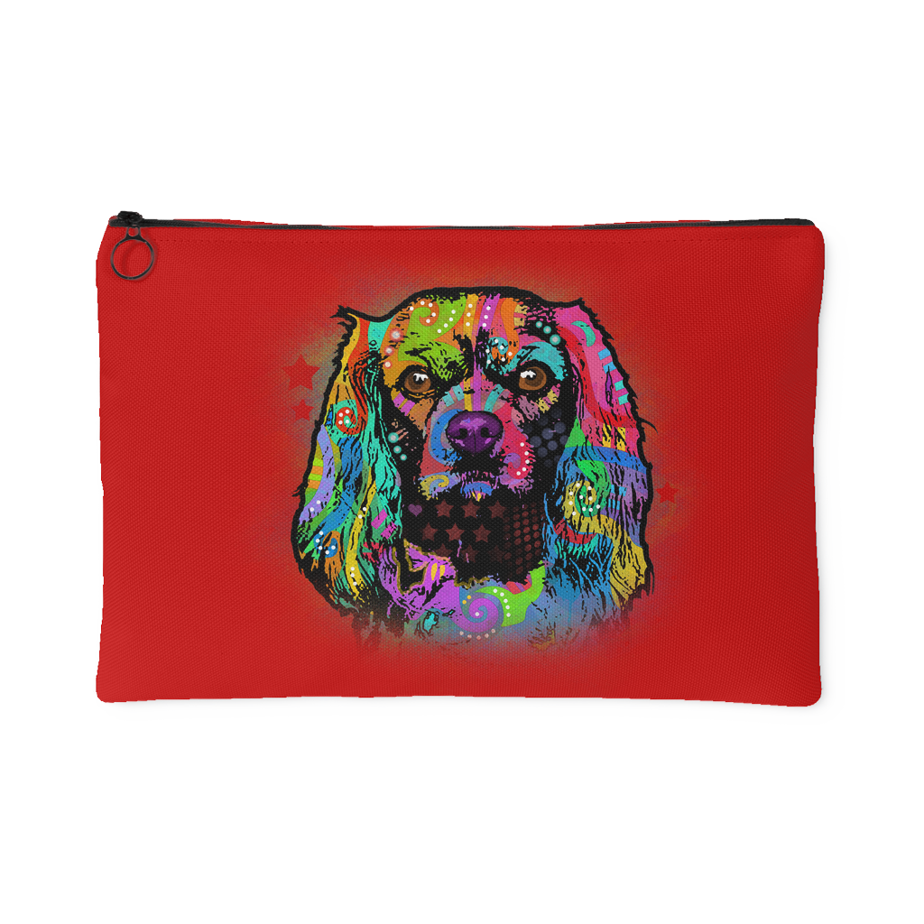 CAVALIER KING CHARLES SPANIAL Red Accessory Pouch