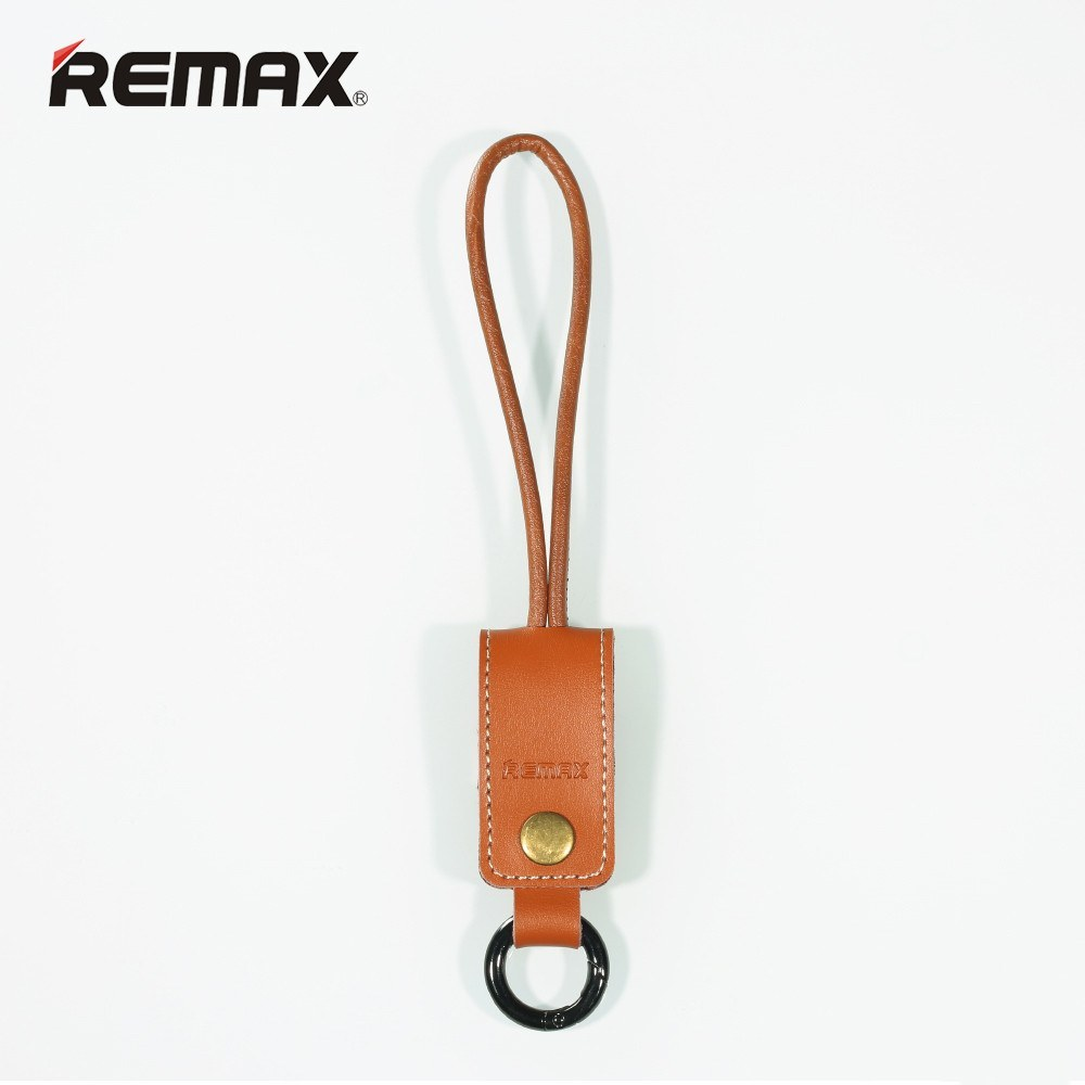 USB Cable - Remax 8 Pin Micro USB Cable & Leather Keychain For IPhone 5 To 6S Plus And IPad Air Mini