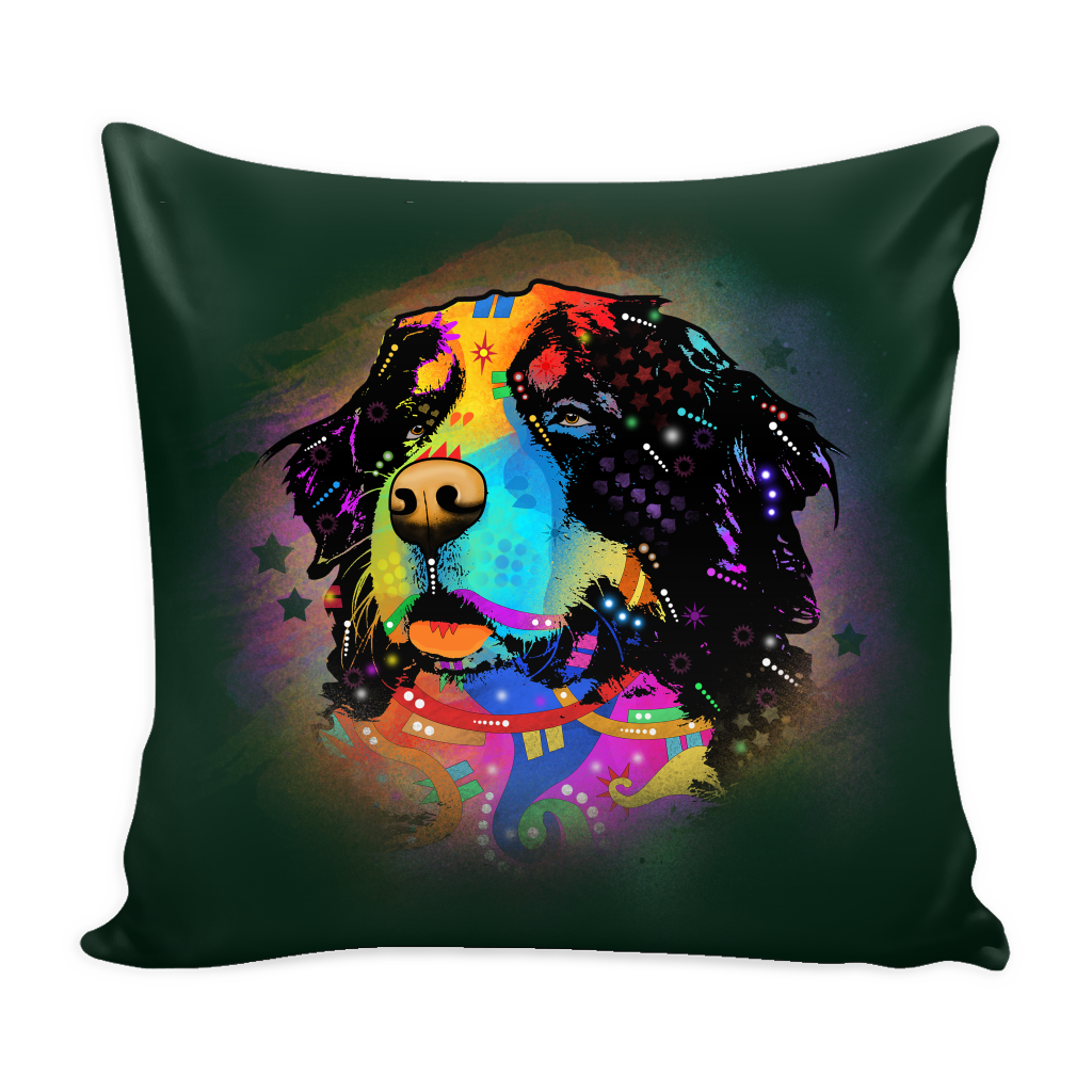 BERNESE MOUNTAIN DOG Pillow Cover, Multiple Colors