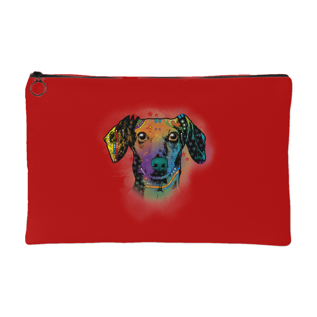 DACHSHUND Accessory Pouch, Royal Red