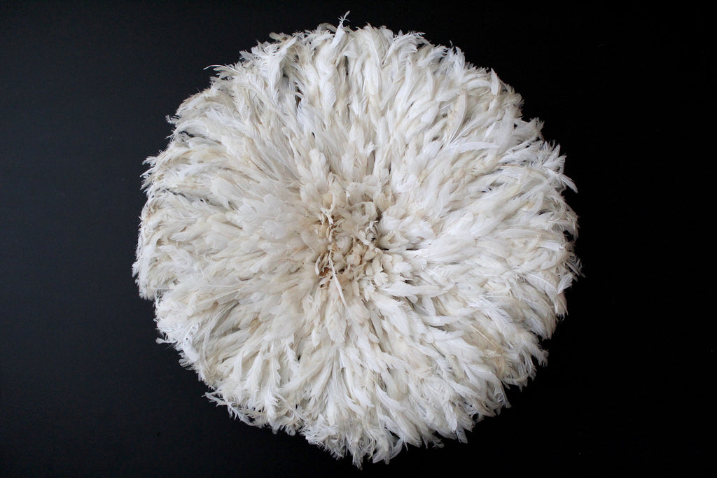 White Juju Hat - 29 inches