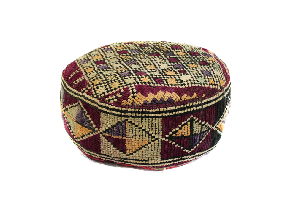 Round Boujaad Pouf