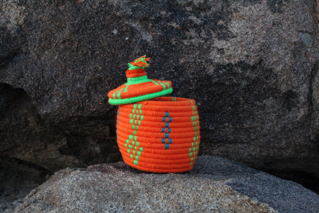 Neon Orange Berber Basket