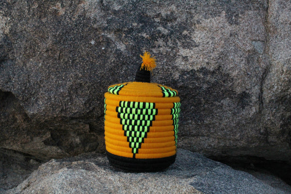Neon Yellow Berber Basket