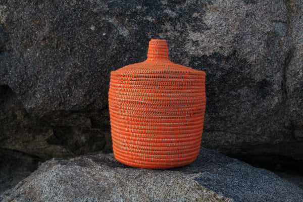 Orange Berber Basket - ON SALE