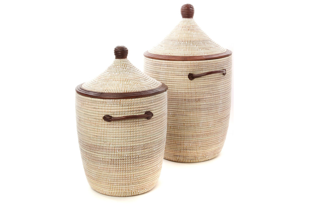 Leather Senegal Basket Set
