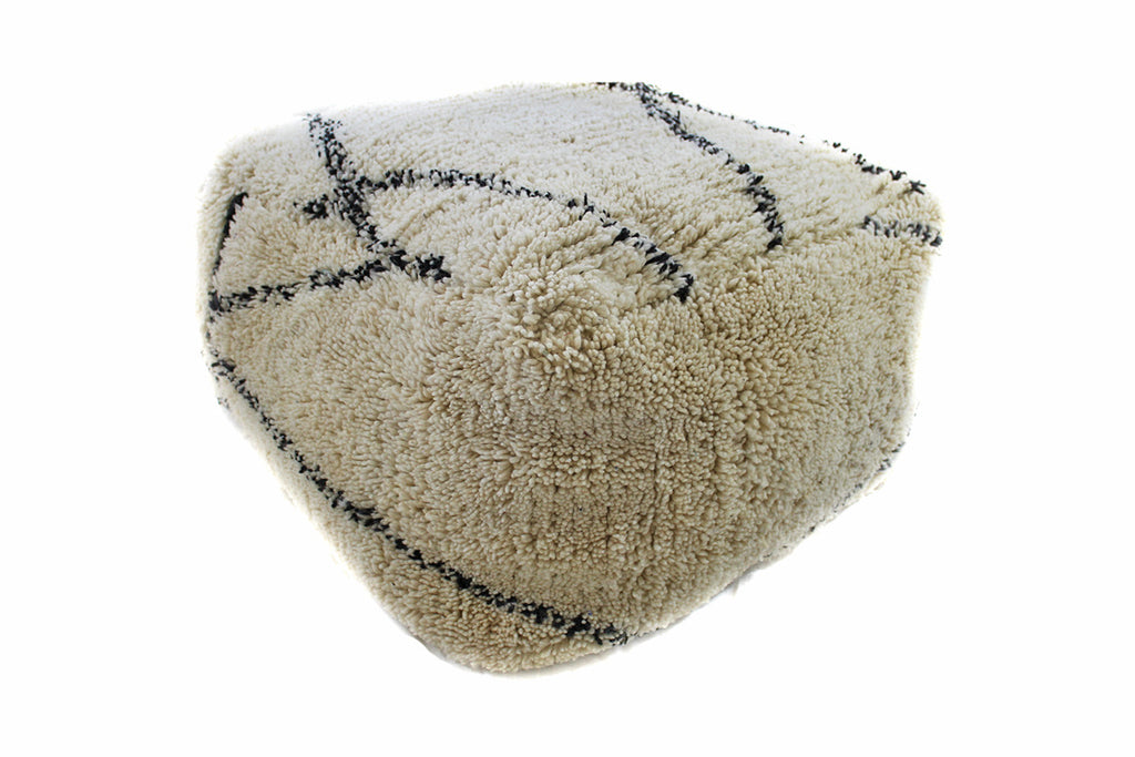 XL Tall Moroccan Double Pouf