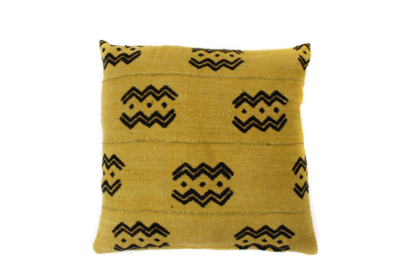 Gold Mud Cloth Pillow (20 x 20)