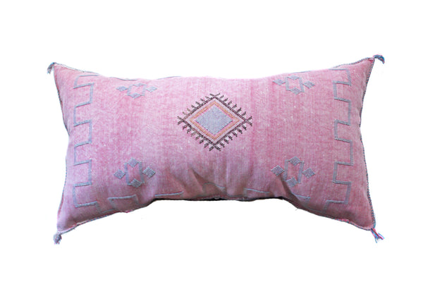 XL Embroidered Cactus Silk Sabra Pillow