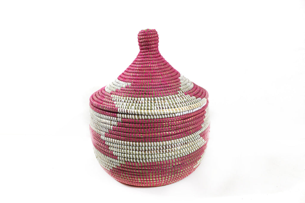 Pink & White Senegal Basket