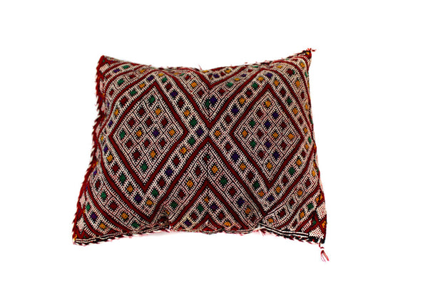 Burgundy Berber Pillow