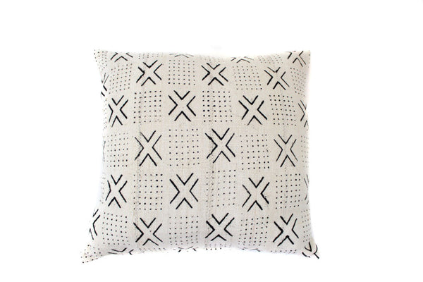 White X Mud Cloth (18 x 18)