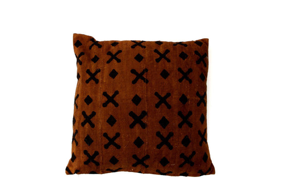 Brown X Mud Cloth (20 x 20)