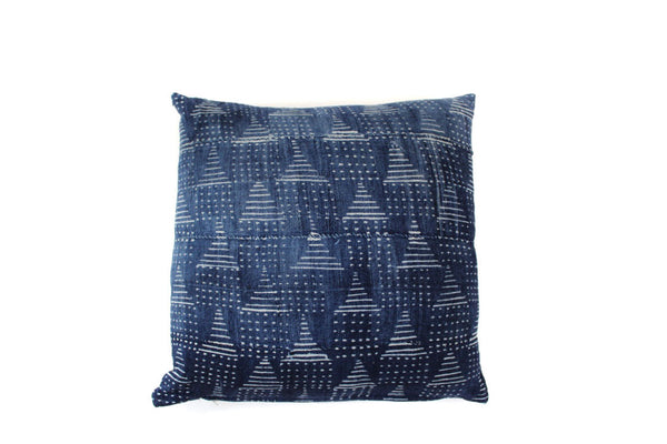 Indigo Mud Cloth (18 x 18)