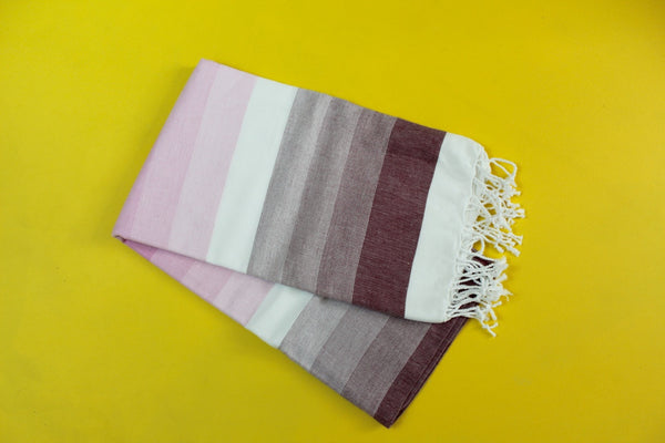 Colorful Pink Turkish Towel