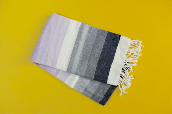 Colorful Purple Turkish Towel