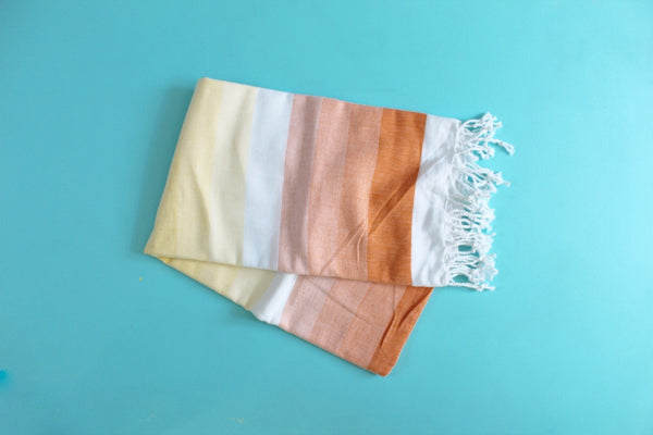 Colorful Orange Turkish Towel