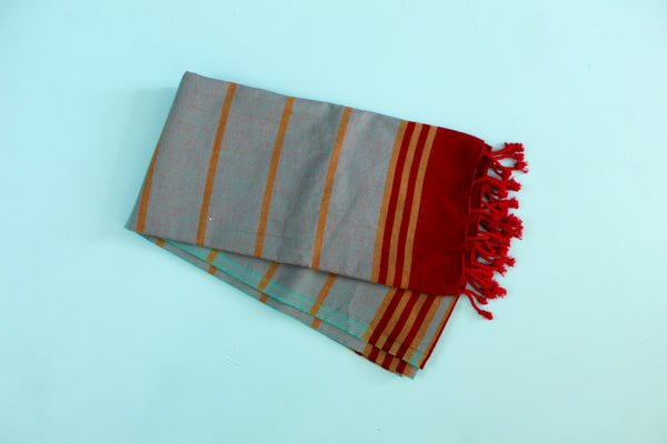 Safiye Turquoise Turkish Towel