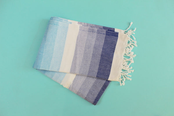 Colorful Blue Turkish Towel