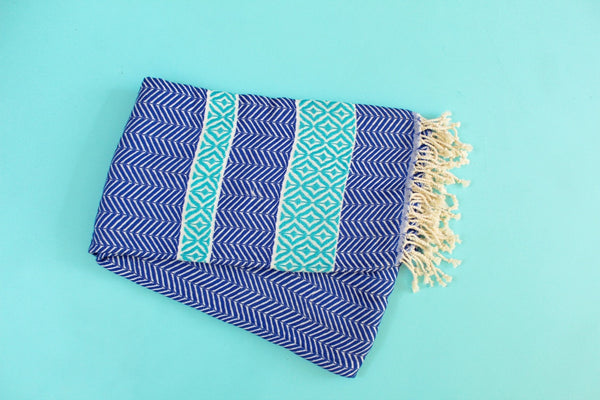 Blue Hurrem Turkish Towel