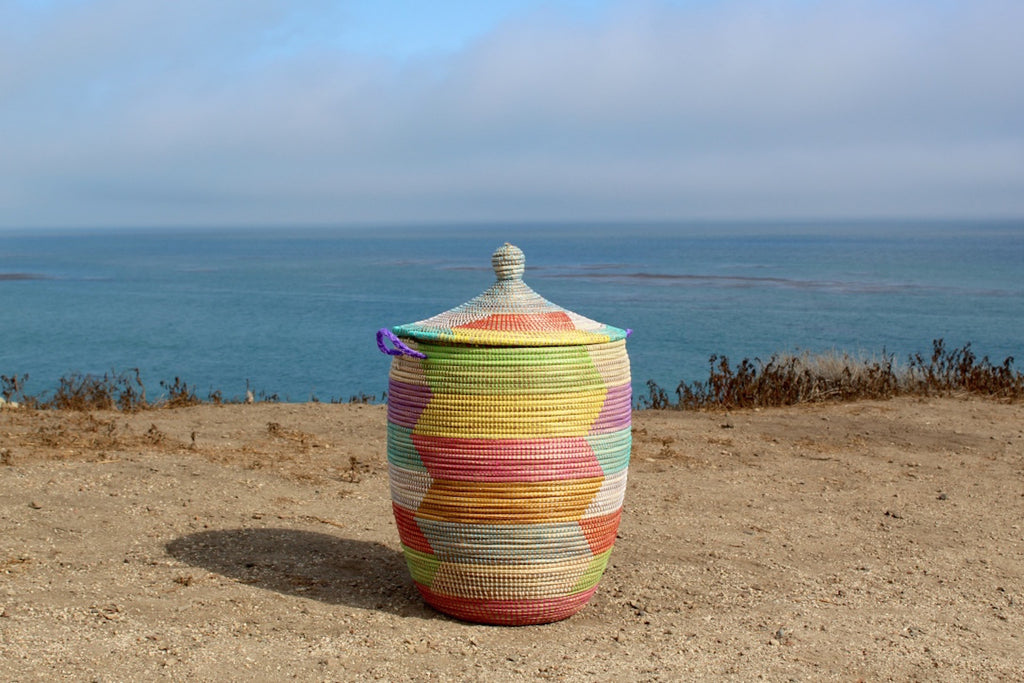 Oversized Colorful Senegal Basket