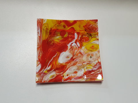 Flared Square Plate - 150 - Chaos - Lava - M201