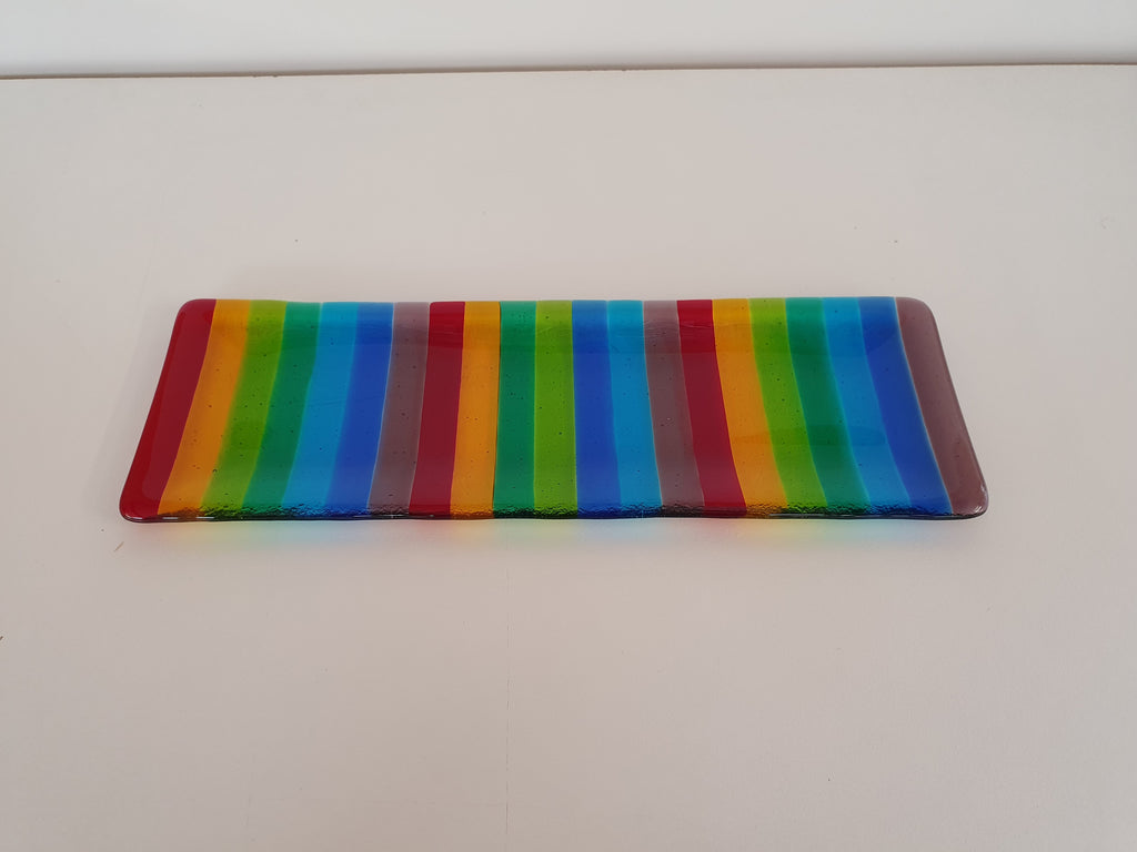 Shallow Rectangular Plate - 105 - Stripey - KX