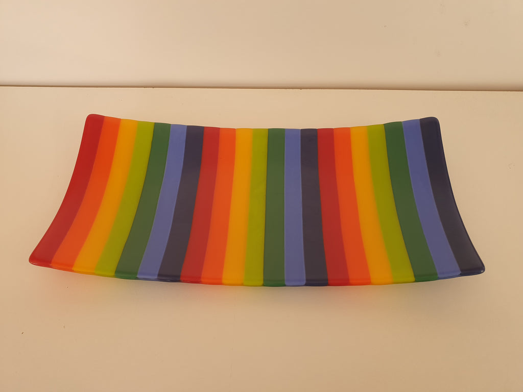 Flared Rectangular Plate - Stripey - KVI