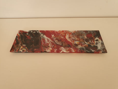Shallow Rectangular Plate - 130 - Chaos - Red Trio - M211