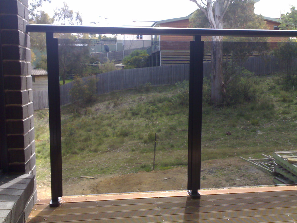 #2 Balustrade Balustrades Semi Framed Glass & Aluminium