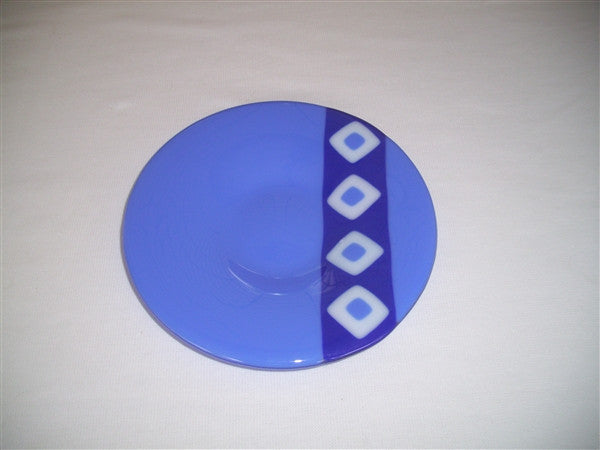 Classic Bowl - 215 - Twin Diamond Peaks - Cobalt Trio