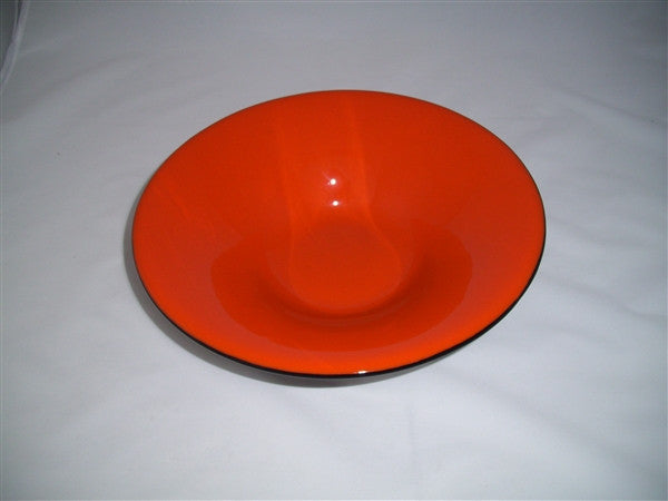 Classic Bowl - 285 - Double Delight - Orange Opal Ink