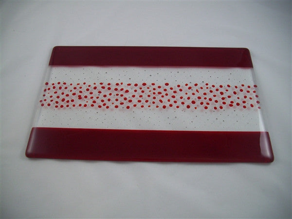 Cheese Board Large - Bands & Sprinkles - Pure Red