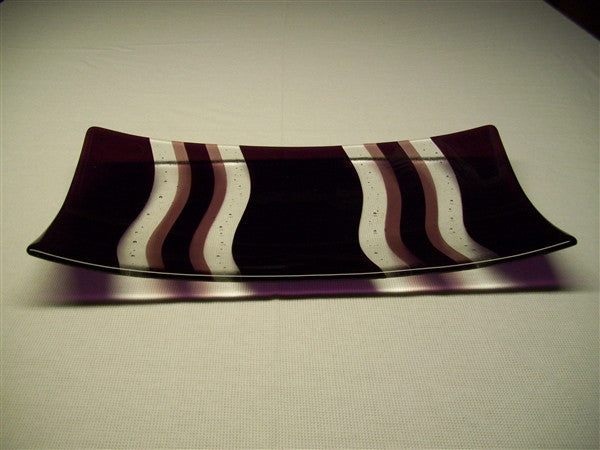 Flared Rectangular Plate - Heat Waves - Pure Double Plum