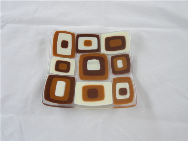 Flared Square Plate - 150 - Brenda - Satin Caramel Latte