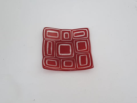 Flared Square Plate - 150 - Stacks - Deep Red