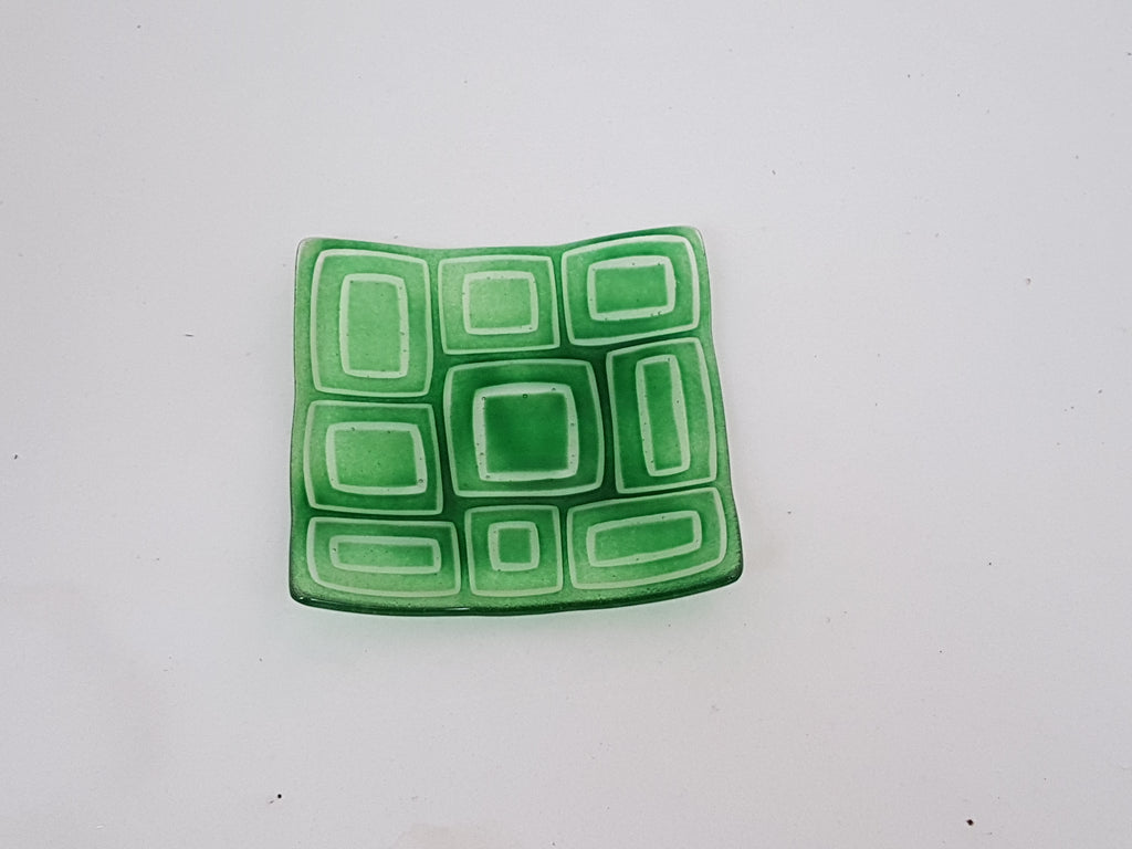 Flared Square Plate - 150 - Stacks - Kelly Green