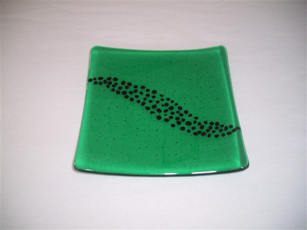 Flared Square Plate - 200 - Breeze - Emerald Ink