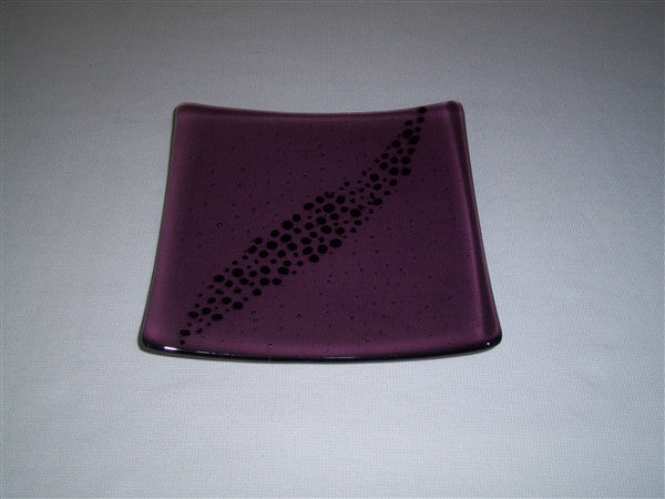 Flared Square Plate - 200 - Breeze - Light Violet Ink