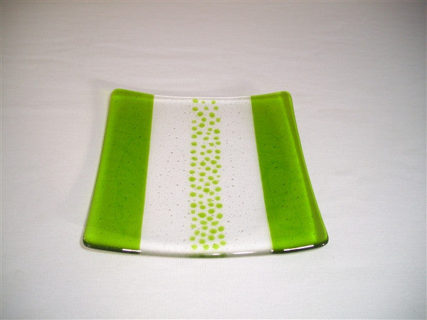 Flared Square Plate - 200 - Bands & Sprinkles - Pure Spring