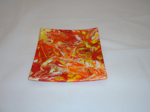 Flared Square Plate - 200 - Chaos - Satin Lava - M41